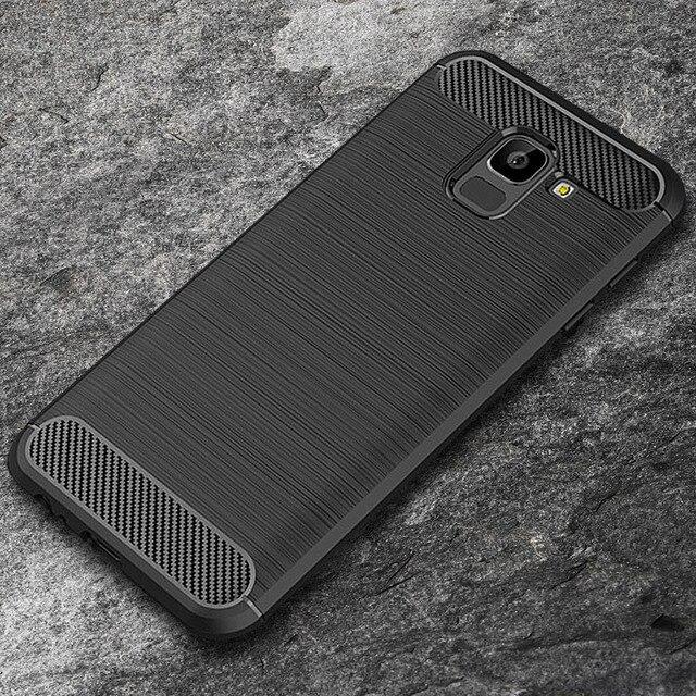 For Samsung Galaxy A8 2018 Case A530F Silicon Carbon Fiber TPU Soft Silicone Case For Samsung Galaxy A8 Plus 2018 A730F Cover
