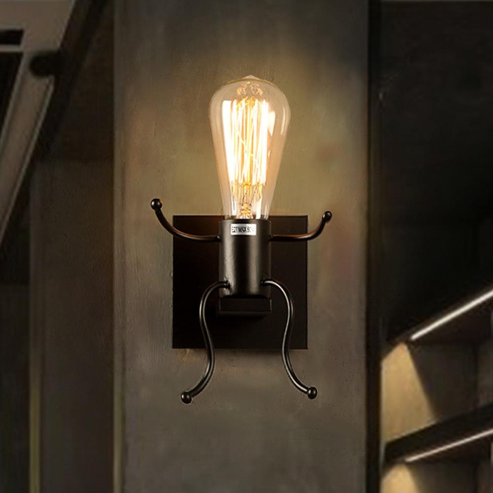 Creative Man Shape Wall Lamp Cute Light Sconce E27 Socket