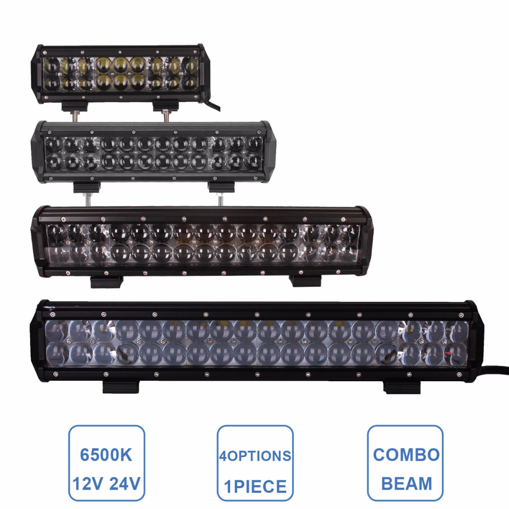 OFFROAD 90W 120W 150W 180W LED LIGHT BAR 9 12 15 18 INCH 12V 24V CAR TRUCK ATV UTV SUV BOAT LAMP TRAILER WAGON CAMPER HEADLIGHT