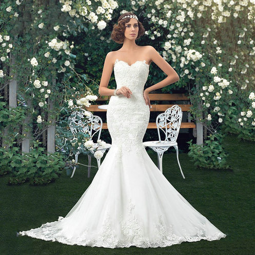 Lace Up Mermaid Wedding Dresses 2017 Sexy Strapless Vintage Dress Alibaba China Vestidos De Novia