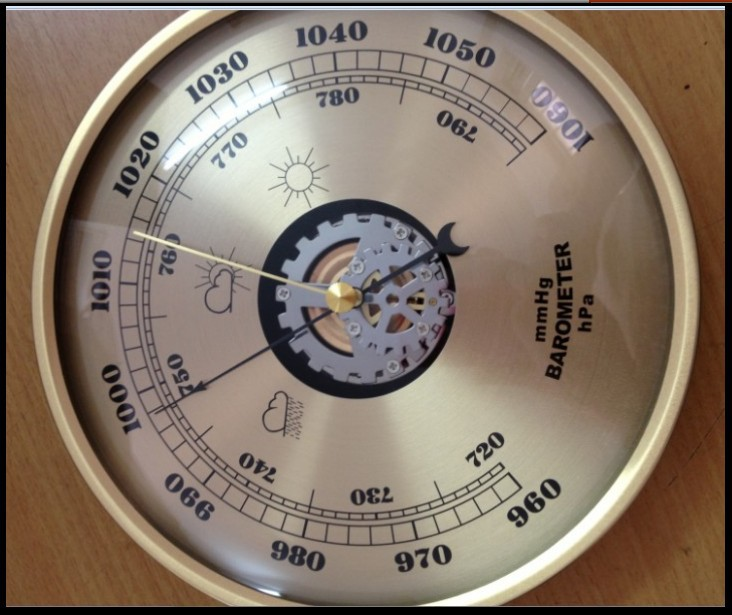 mechanical  Aneroid Barometer 180mm daimeter Atmospheric pressure gauge   weather station home decoration gift miniature pressure gauge surface diameter 40 y40 0 1 6mpa miniature barometer