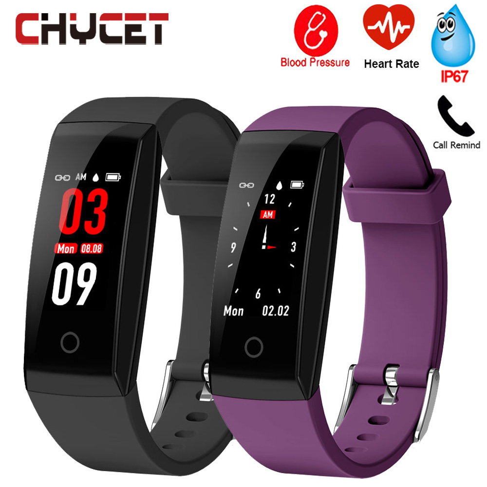 Smart Bracelet Blood Pressure Measurement Heart Rate Monitor Fitness Tracker IP67 Waterproof Men Women Smart Wristband