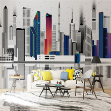 Professional custom 3D wallpaper mural modern urban architecture series - high-grade waterproof material
