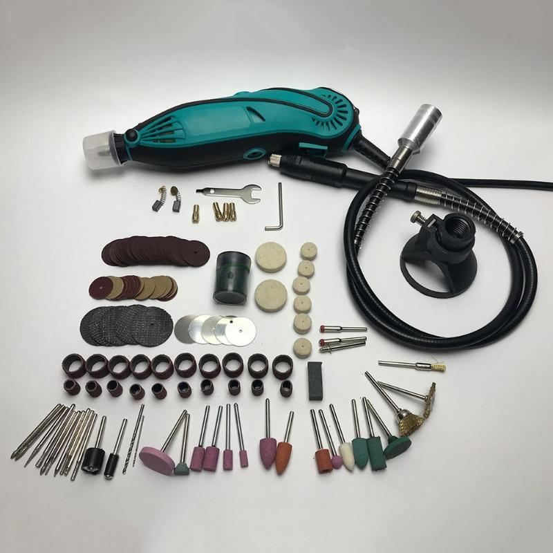 136pcs Mini DIY Drill Engraver Dremel Drill Machine Engraving Pen Grinder Mini Electric DIY Drill Rotary Tool Polishing Grind wlxy wl 5224 diy hand twist drill grind polishing set