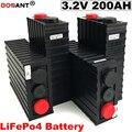 Бесплатная доставка батарея глубокого цикла LiFePo4 3 2 V 200Ah для электромобиля литиевая батарея электрического велосипеда 12В 24В 36В 48В