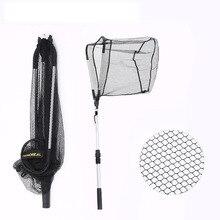 95cm 160cm 210cm Portable Triangular Folding Fishing Net Landing 3 Section Extendable Aluminium Handle Tackle B305