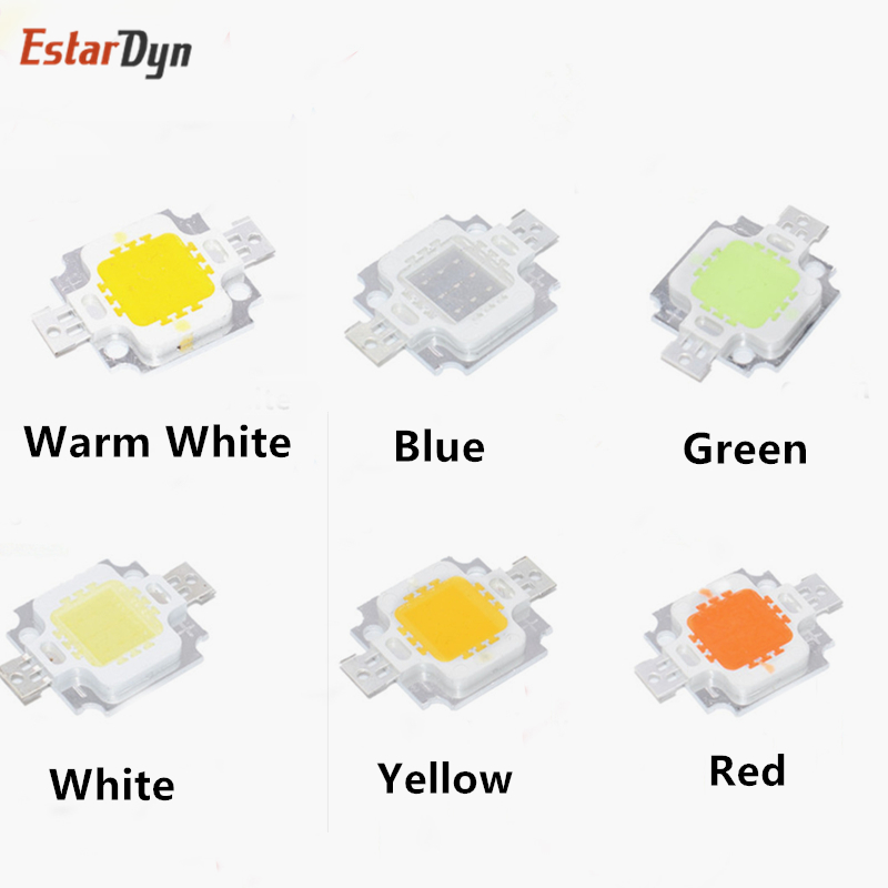 10W LED Chip Integrated High Power 10w LED Beads 10W White/warm White/Red/green/blue/yellow Led Chip