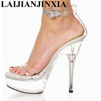 LAIJIANJINXIA Platform Women's Shoes Sexy Dance Shoes 14CM High Heels Sandals Night Club Women Pole Dancing Shoes M-028