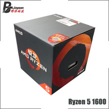 AMD Ryzen 5 1600 R5 1600 3.2 GHz Six Core Twelve Thread CPU Processor L2=3M L3=16M 65W YD1600BBM6IAE Socket AM4 New and with fan