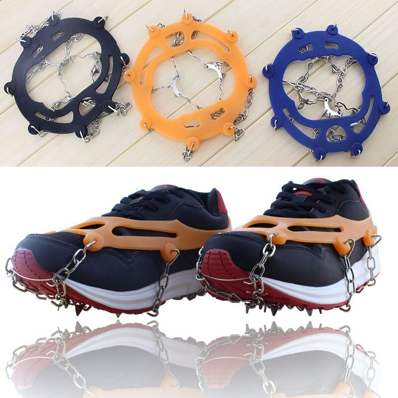 High quality 2pcs 10-Stud Sports Anti-Slip Ice Gripper Cleats Shoe Boot Grips Crampon Chain Spike Snow for Hiking Climbing high quality mini handbrake grips