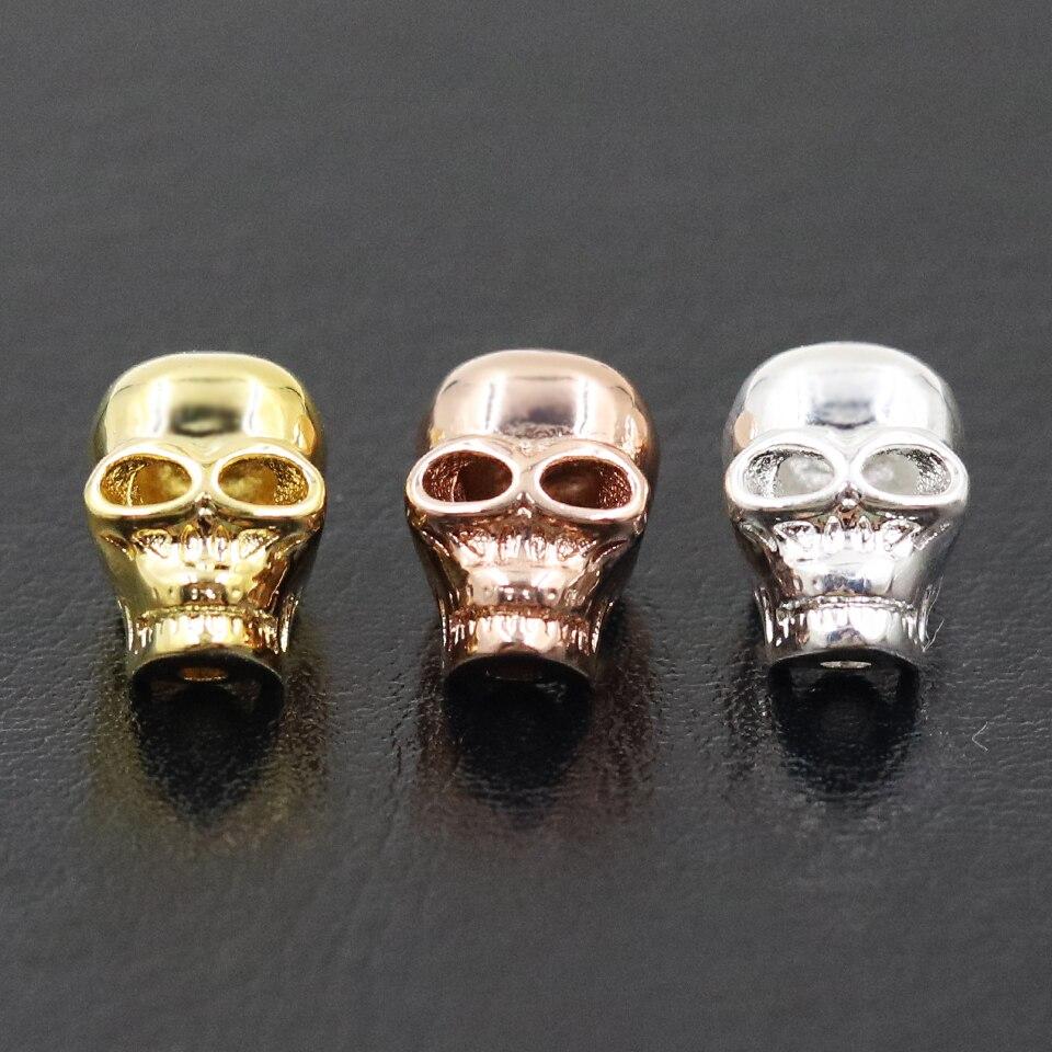 Muffiy Brand High Quality Delicate Skeleton Karma Beads,Cool Skull Men&Women Bijoux for DIY Anting Necklace&Bracelet Perhiasan