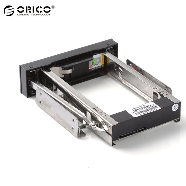 """Orico 1106ss 3.5 """"mobile rack 5.25 bahía hdd interno interno inoxidable adaptador soporte de montaje de disco duro interno"""