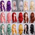 12 Cores 70 cm Mulheres Peruca Sintética/Peruca Cosplay Longo Encaracolado Onda Solta Vermelho, azul, marrom, loira, roxo, Cabelo preto etc