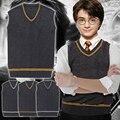Гарри Поттер Свитер Жилет GryffindorHufflepuffRavenclaw Слизерин Равномерное Косплей Костюм 4 цветов в наличии бесплатная доставка