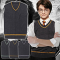 Harry Potter Sweater Vest GryffindorHufflepuffRavenclaw Slytherin Uniform  Cosplay Costume 4 colors in stock free shipping