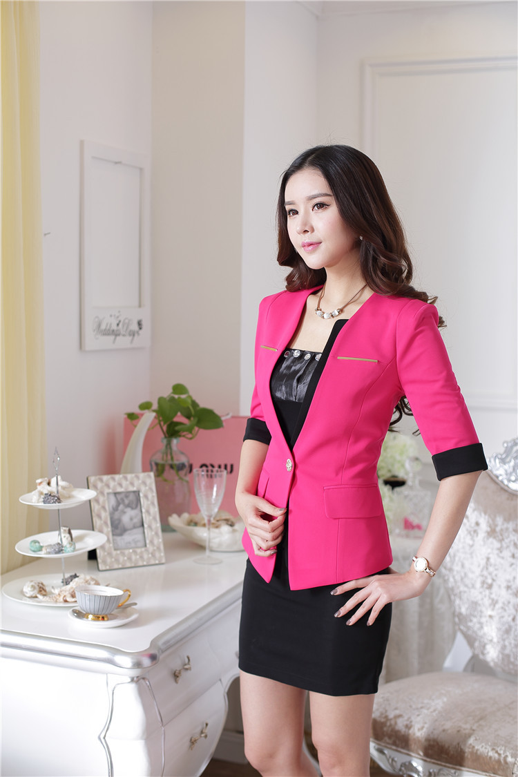 9196d32d7e82 Formal Uniform Design Spring Summer Business Women Suits Office Work ...