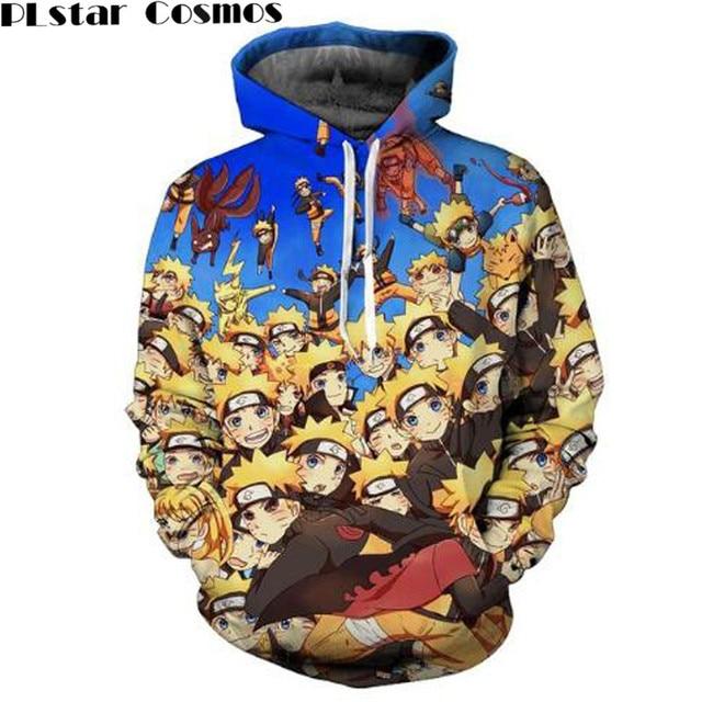Naruto Sasuke 3d Anime Long Sleeve Outerwear Pullover Jacket