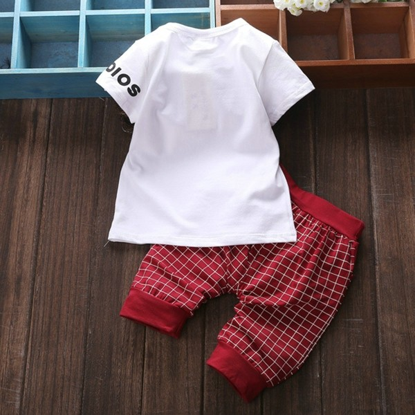 Baby Kids Boys Girls Clothing Sets 4 Colors Casual Style Stars Printing Clothes Kids Clothes 03