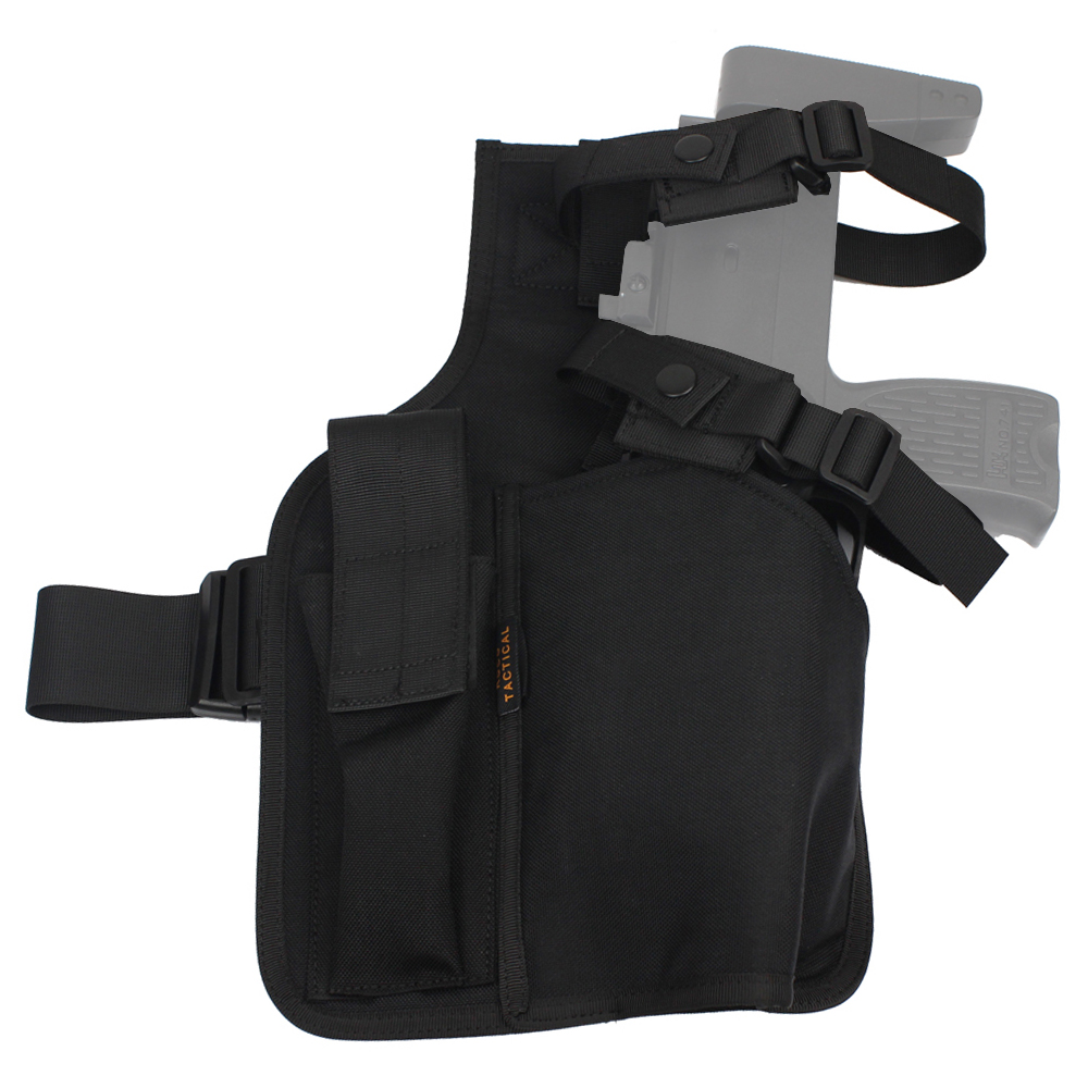 ROCOTACTICAL Warrior Swat MP9 Leg Holster With Magazine Pouch Military Molle Hand Gun Holster Made Of Cordura 1000D Nylon