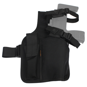 ROCOTACTICAL Warrior Swat MP9 Leg Holster With Magazine Pouch Military Molle Hand Gun Holster Made of Cordura 1000D Nylon(China)