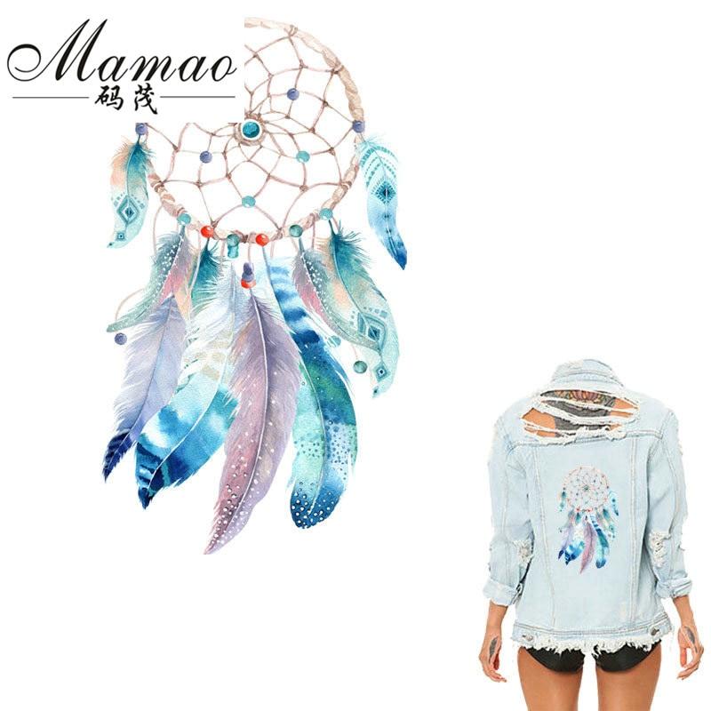MAMAO Dreamcatcher Patch Iron On Transfer Flamingo Flower Letter - Konst, hantverk och sömnad - Foto 2