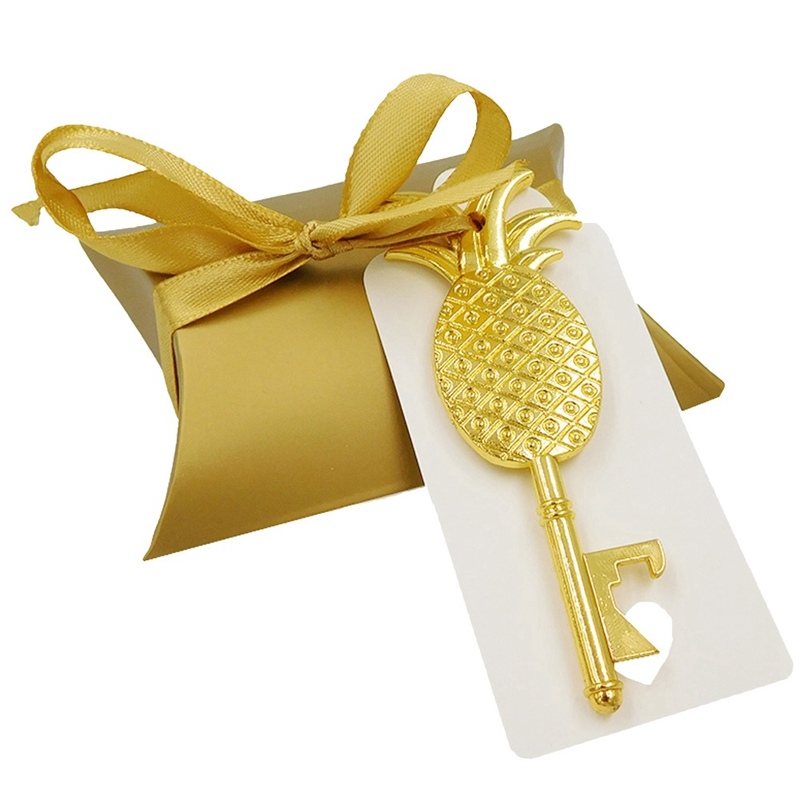 36 Set Golden Pineapple Elephant Bottle Opener Wedding Favors And Gifts For Bridesmaid Guests Groomsmen Personalized Eventail