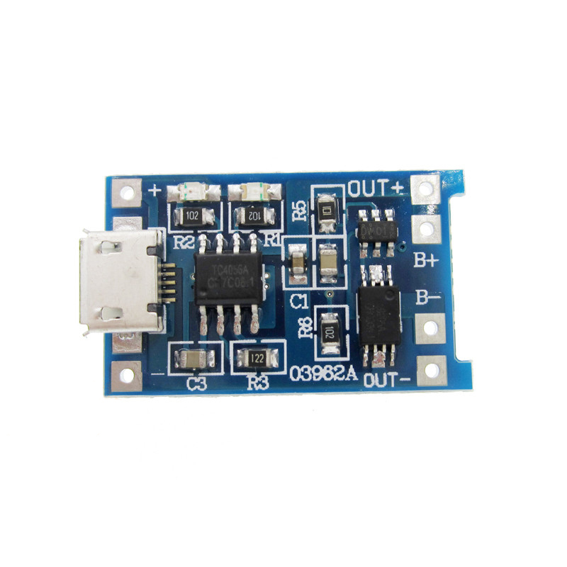 5V Micro USB 1A 18650 Lithium Battery Charging Board With Protection Charger Module xh m603 li ion lithium battery charging control module battery charging control protection switch automatic on off 12 24v