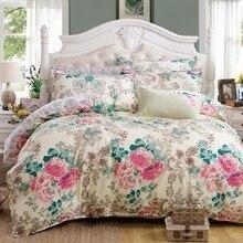 Free ship American Rustic floral/bird Print pure 100%cotton duvet cover Bed sheet Pillowcase 4pcs/lot, Queen Bedding sets SP2060
