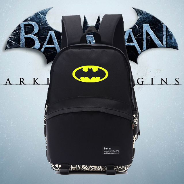 352a9cfccdfb Cool batman new backpack BATMAN backpacks nylon new good quality backpacks  school bag for students