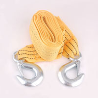 3 Tons Car Styling Heavy Duty 12ft 2 Hooks Road Emergency Trailer Rope Tow Line Strap