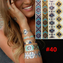 Temporary Tattoos DIY Gold Gleaming Metallic Tattoo Tattoo One-off Environmental Protection