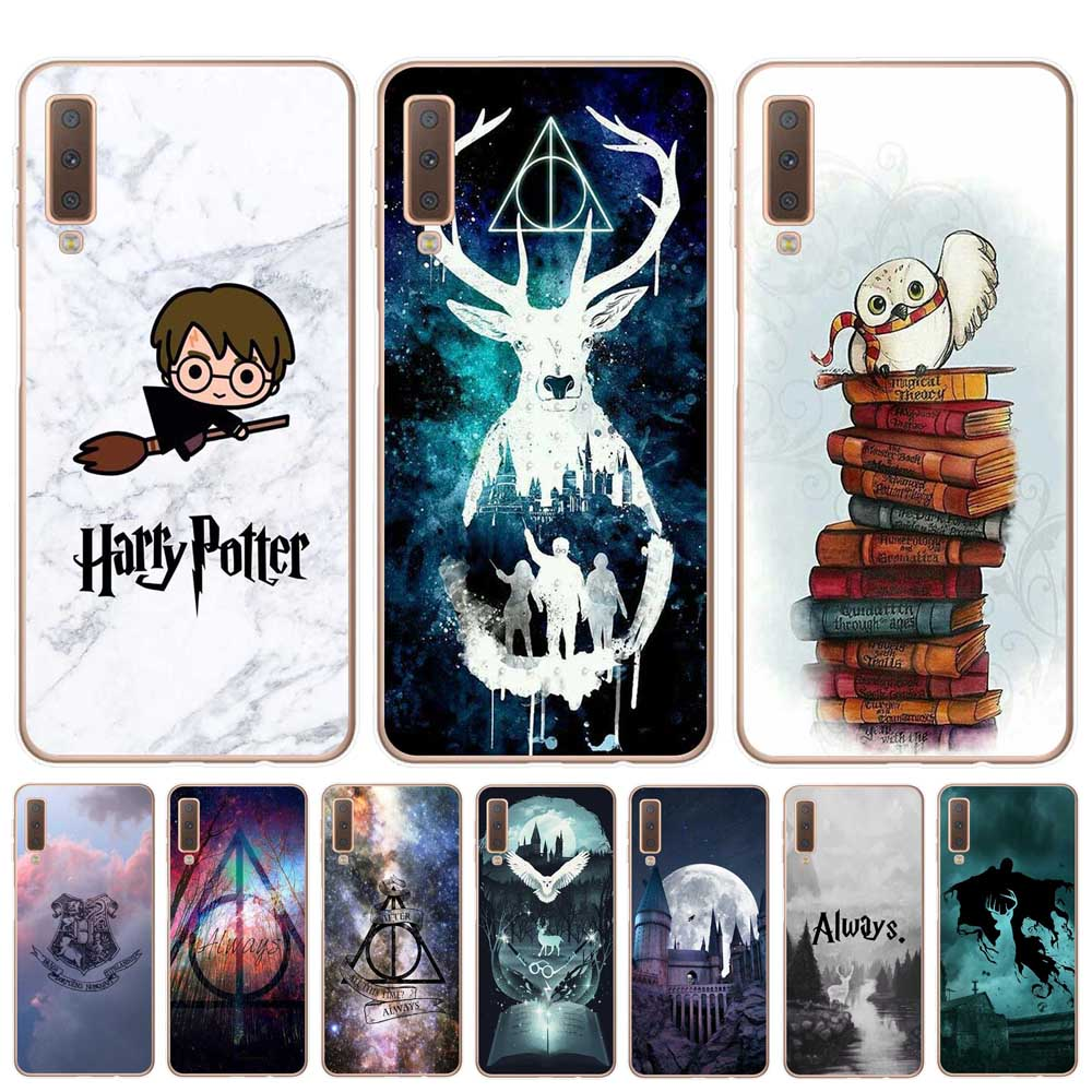 Officiel Harry Potter Personnages Deathly Hallows I Coque en Gel molle pour Samsung Galaxy A40 (2019)