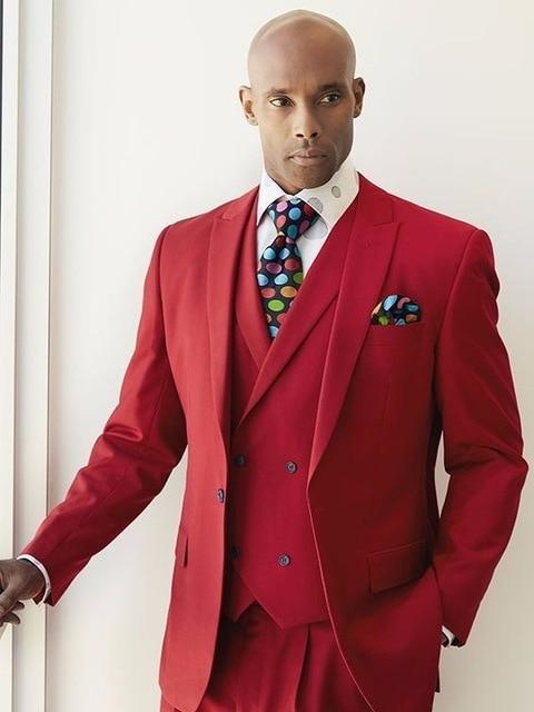 Esmoquin 2018 Formal Chaleco 3 Delgado Chaleco Moda Partido Boda chaqueta  Beige Pantalones Red Hombres Unidades Trajes Con De Doble Pecho Blazer  p47qxdwv 1c1fc7478da