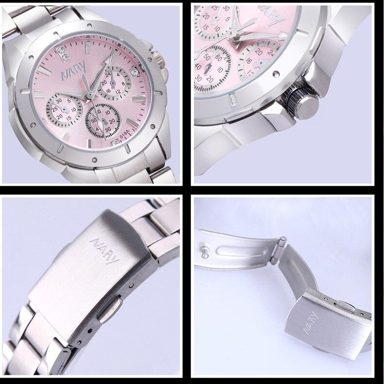 NARY New Fashion watch women's Rhinestone quartz watch relogio feminino the women wrist watch dress fashion watch reloj mujer 6