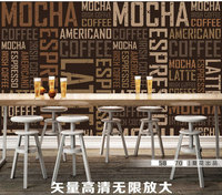 Personalized Letters Retro Coffee Theme Backdrop Living Room Bedroom Wallpaper Murals Wallpaper Wallpaper Videos TV Stereo