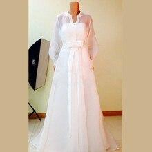 2015 Noble White Chiffon Long Sleeve Bridesmaid Dresses Vestido De Festa De Casamento Wedding Party Dresses Custom Made