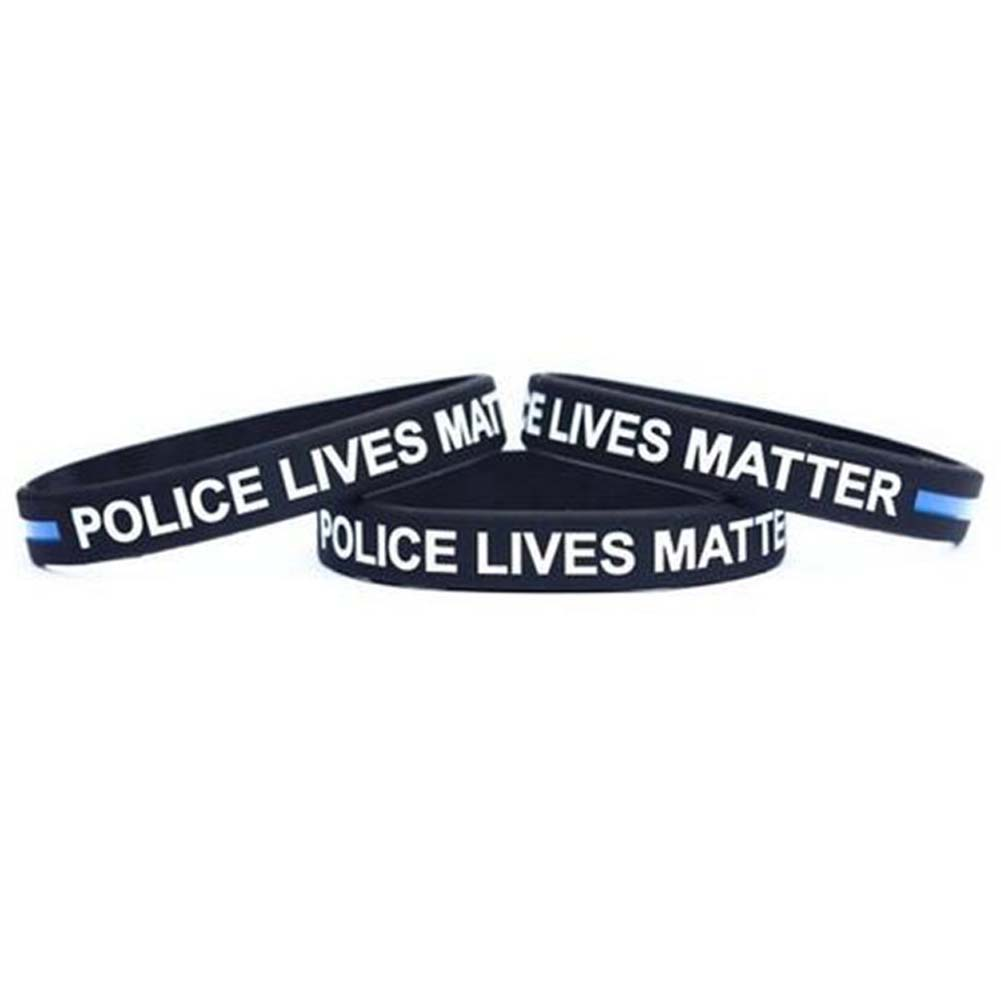 Us 0 53 6 Off 2017 Thin Blue Line Silicone Wristband Police Bracelet Law Enforcement Support Usa In Charm Bracelets From Jewelry Accessories On