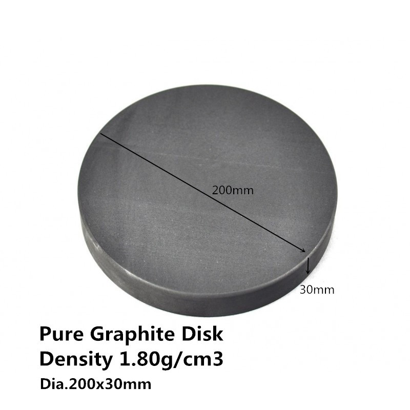 Dia.200*30mm Graphite Round Plate , Carbon Graphite Sputtering Targets, graphite bursting discs