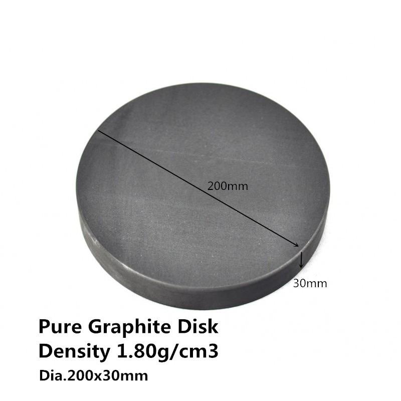 Dia.200*30mm Graphite Round Plate , Carbon Graphite Sputtering Targets, graphite bursting discs сверло graphite 57h018