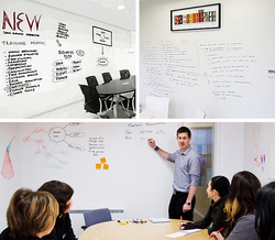 1pc 45X200cm Soft Flexible Whiteboard Message Board Notes waterproof Wall Sticker with 1 marker pen