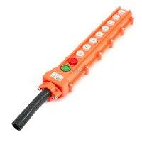 Hoist Crane Rainproof 6 Directional Pendant Control Station Push Button Switch