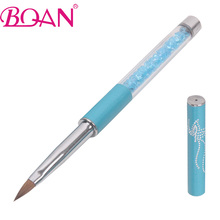 BQAN Hot Selling 4# Kolinsky Nail Brush Nail Art Builder Brush  Crystal Acrylic UV Nail Art Brush