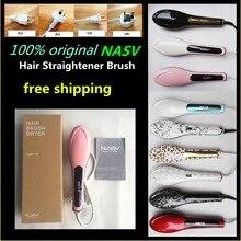 Newest ! Salon used 100% original NASV hair straightener brush with product certificate