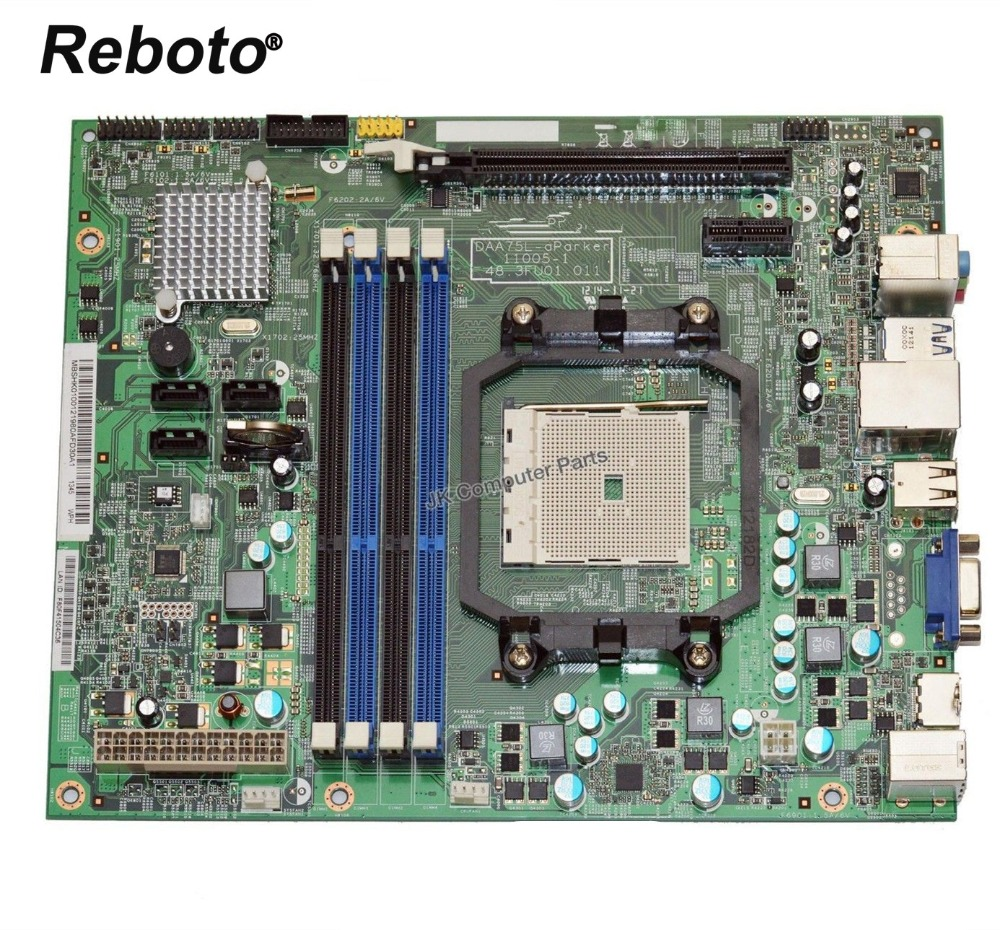 Reboto MBSHK01001 For ACER Aspire X3470 Desktop Motherboard DAA75L aParker 11005 1 48.3FU01.011 100% Tested Fast Ship-in Motherboards from Computer & Office    1