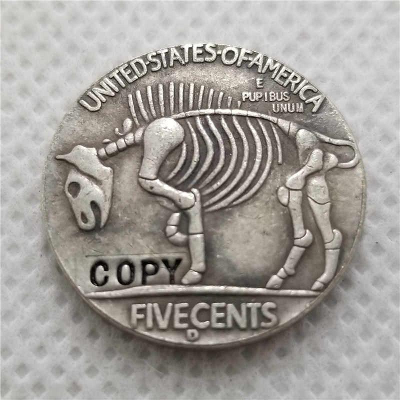 Hobo Nikkel Coin_Type # 45_1928-D BUFFALO NICKEL COIN COPY GRATIS VERZENDING