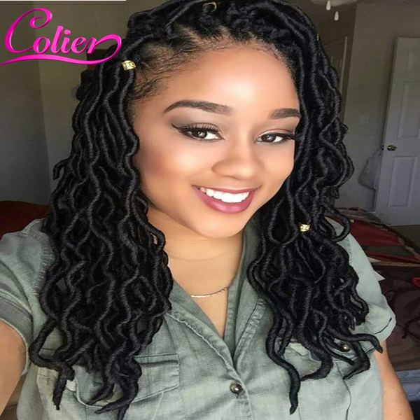 Goddess Faux Locs Kanekalon Braiding Hair Crochet Braids