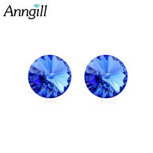 Anngill 0.8cm Round Austrian Crystal From SWAROVSKI Stud Earrings Best gift For Women 2017 Jewelry Bijoux Elegant Gift(China)