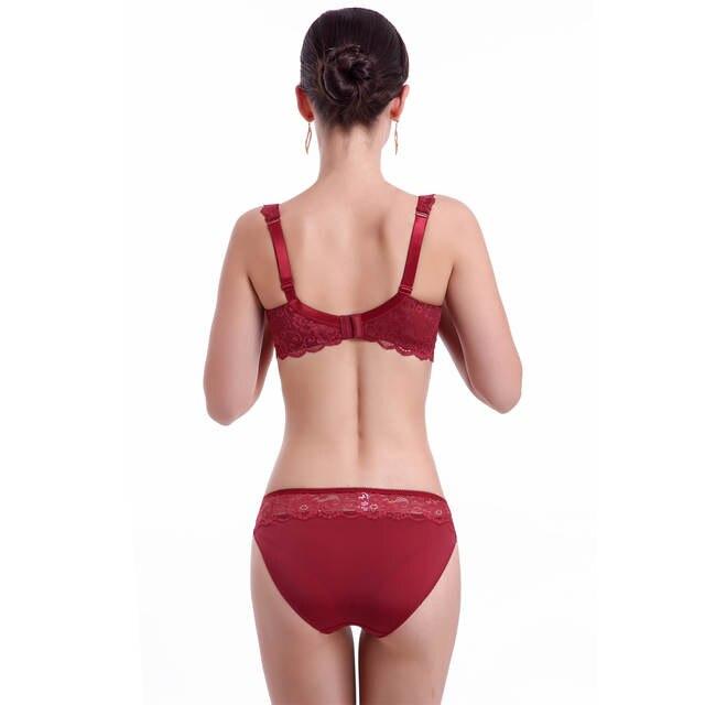 80e00a939c87f placeholder Plus Size Bra Set 3D Air Mesh Breath Underwear Full Cup  Minimizer Women Lingerie Lace Intimates