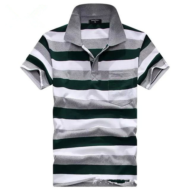 Brand New Men's Polo Shirts Classic Polos Men Cotton Short Sleeve Tops Tees Men   Large Size Fashion Style Loose Casual