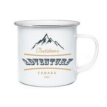 Модные DIY 350 мл чашки, покрытые эмалью Кофе кружка, кружка для чая письмо чашки и кружки краткое стакан эмалированные Чашки Уникальные подарки для друга